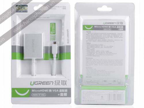 Cáp chuyển đổi Micro HDMI sang VGA+Audio Ugreen 40222