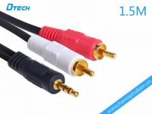 Cáp âm thanh 1 ra 2 hoa sen 1.5M Dtech DT-6211