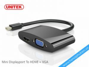 Cáp chuyển đổi Mini Displayport sang VGA+HDMI Unitek Y-6328BK