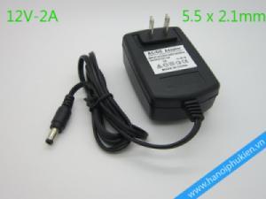 Nguồn 12V-2A giá rẻ loại 5.5x2.1mm