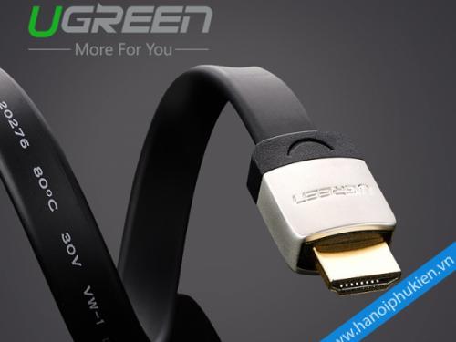 Cáp HDMI 1.4 dây dẹt dài 1M Ugreen 10259 hỗ trợ 3D, 4K, Ethernet