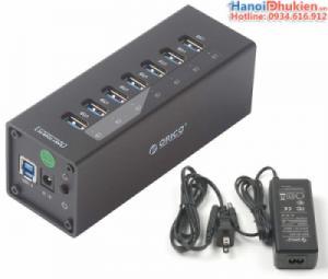Orico A3H7 Bộ chia USB 3.0-7 cổng có nguồn ngoài 12V vỏ nhôm cao cấp