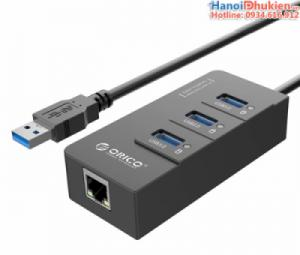 Bộ chia 3 cổng USB 3.0 + LAN Orico HR01-U3