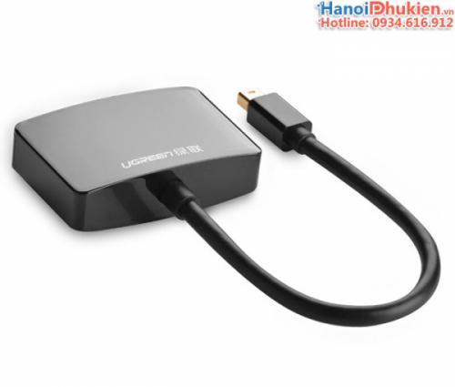 Cáp chuyển đổi Thunderbolt ra HDMI, VGA Ugreen 10439 màu đen