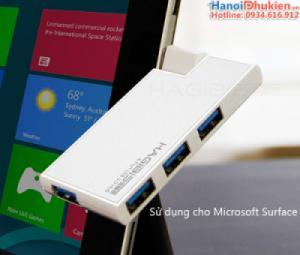 Bộ chia USB 3.0 - 1 ra 4 chuyên dùng cho Laptop, Macbook, Surface PRO kiểu dáng nhỏ gọn