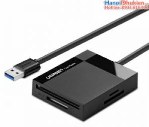 Đầu đọc thẻ USB 3.0 đa năng CF, SD, TF, MS 4 trong 1 Ugreen 30229 cáp dài 0.5M