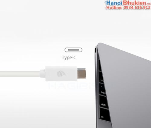 Cáp chuyển đổi USB-C (thunderbolt 3) ra HDMI, VGA Hagibis chính hãng