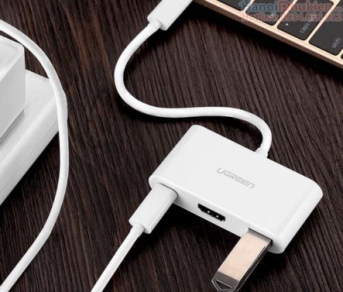 Cáp Type C sang HDMI, USB hỗ trợ sạc Ugreen 30377
