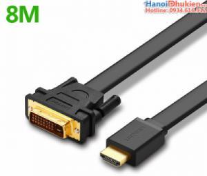 Cáp HDMI sang DVI-D 24+1 dây dẹt 8M Ugreen 30139
