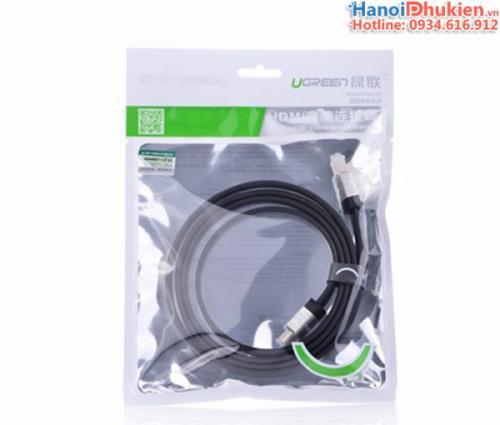 Cáp HDMI 1.4 dây dẹt dài 3M Ugreen 10262 hỗ trợ 3D, 4K, Ethernet