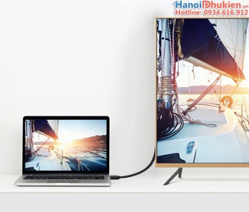 Cáp HDMI 1.4 dây tròn 2M Ugreen 10107 hỗ trợ 3D, 4K, Ethernet