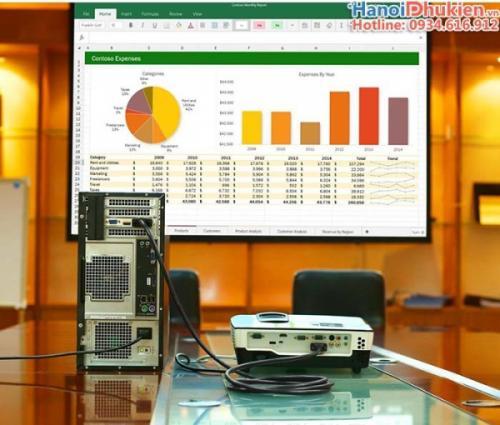Cáp chuyển đổi DVI-I 24+5 sang VGA Ugreen 11618 dài 3M chính hãng