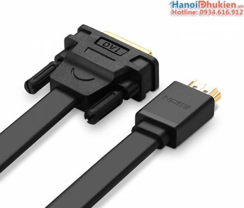 Cáp HDMI sang DVI-D 24+1 dây dẹt 10M Ugreen 30140
