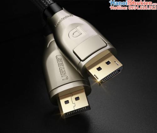Cáp Displayport sang Displayport 10M Ugreen 30124 vỏ nhôm, hỗ trợ 4K