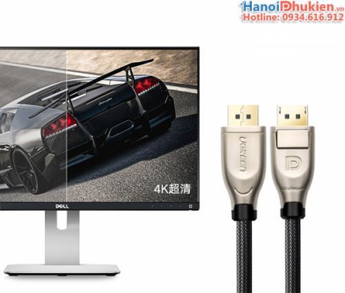 Cáp Displayport sang Displayport 1.5M Ugreen 30119 vỏ nhôm, hỗ trợ 4K@60hz