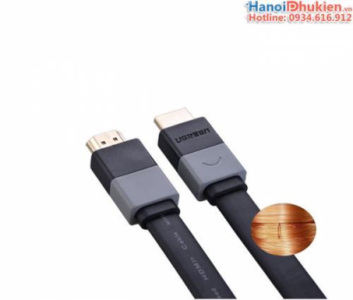 Cáp HDMI 1.4 dẹt dài 3M Ugreen 30111 hỗ trợ 3D, 4K, Ethernet