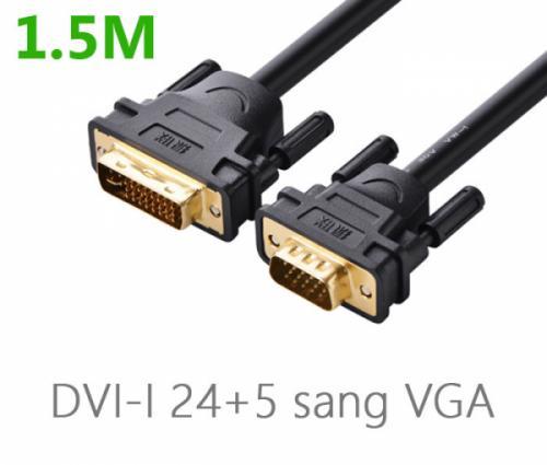 Cáp chuyển đổi DVI-I 24+5 sang VGA Ugreen 11617 dài 1.5M chính hãng