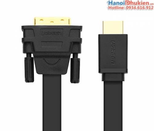 Cáp HDMI sang DVI-D 24+1 dây dẹt Ugreen 30138