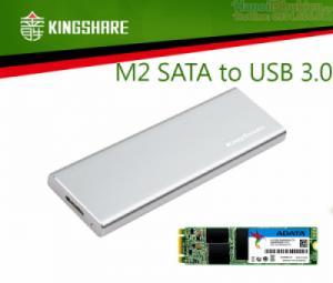 Box ổ cứng M2 SATA NGFF sang USB 3.0 vỏ nhôm nhỏ ngọn Kingshare KS-ANTU28
