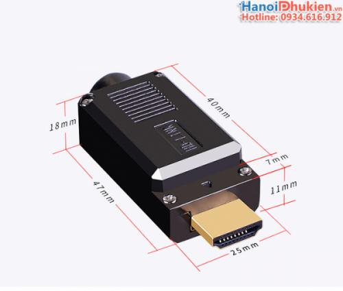 Đầu hàn HDMI vỏ ốp kim loại hãng HD-Link