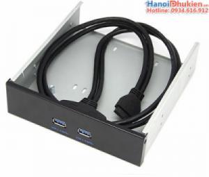 Cáp chuyển đổi USB 3.0 - 20Pin Mainboard ra 2 USB 3.0 gắn khay CD/DVD ROM