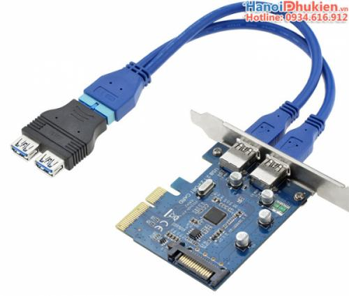 Cáp chuyển đổi 2 USB 3.0 sang 20Pin