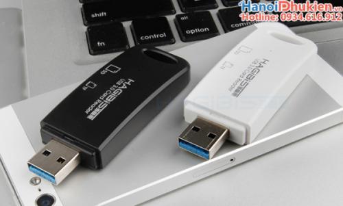 Đầu đọc thẻ nhớ SD, TF USB 3.0 Hagibis chính hãng, kiểu dáng nhỏ gọn