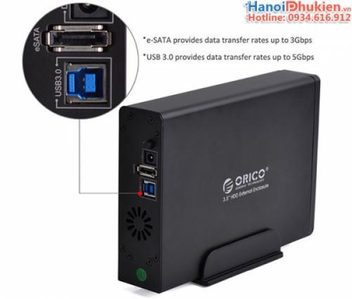 Hộp đựng ổ cứng 3.5 inches vỏ nhôm USB 3.0, eSata Orico 7618SUS3