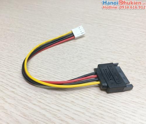 Cáp nguồn SATA sang 4Pin chân nhỏ cho FDD, Card PCI