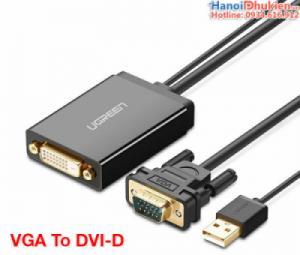 Cáp chuyển đổi VGA sang DVI-D 24+1 Ugreen 30839 chính hãng