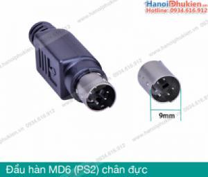 Đầu hàn Mini DIN MD6 Male (chân đực) cho máy lập trình PLC