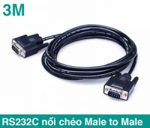 Cáp RS232C Null Modem Male to Male nối chéo 2-3 dài 3M