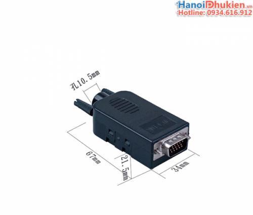 Đầu bấm VGA 3+9 Male HD-Link