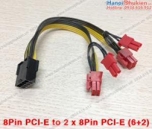 Cáp chia nguồn Card VGA 8Pin PCI-E 1 ra 2 (8Pin 6+2)