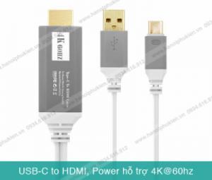 Dây cáp nối điện thoại cổng USB Type C sang Tivi HDMI hỗ trợ FullHD, 4K60hz