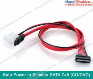 Cáp nguồn SATA, Molex nối ổ đĩa quang CD/DVD vào máy tính bàn