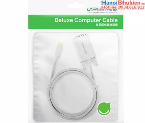 Cáp chuyển đổi USB-C sang VGA 1.5M Ugreen 30842 chính hãng
