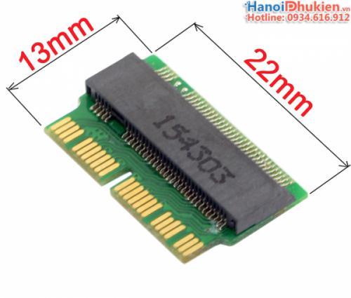 Adapter M.2 PCI-e M key to 12+16Pin 2013 2014 2015 SSD Macbook