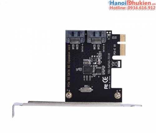 Card chuyển đổi PCI-E 1X sang 2 SATA III chipset ASM1061