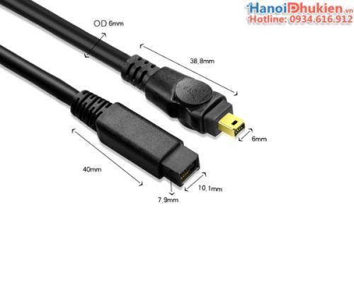 Cáp 1394 firewire 800-400 dài 3M có chống nhiễu hãng SGO