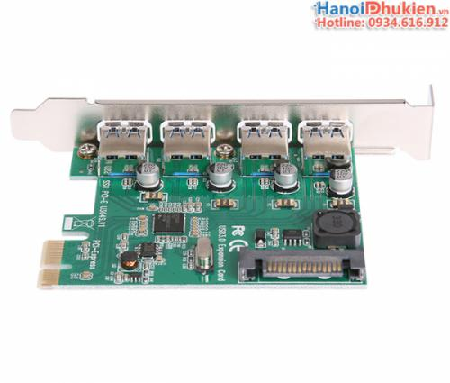 Card chuyển đổi PCI-E ra 4 USB 3.0 chipset NEC720201