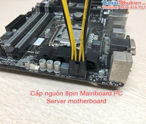 Cáp chuyển nguồn 2 molex ide 4pin sang 8pin CPU