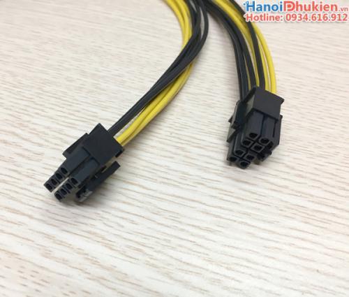 Cáp chia nguồn 8Pin CPU 1 ra 2 dài 40cm cho PC, server mainboard