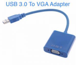 Cáp chuyển đổi USB 3.0 sang VGA, mở rộng thêm 1 màn hình phụ cho PC, Laptop