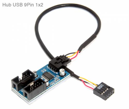 9Pin USB Header Male 1 to 2 Extension Cable mainboard