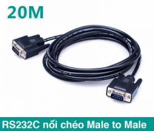 Cáp RS232C Null Modem Male to Male nối chéo dài 20M