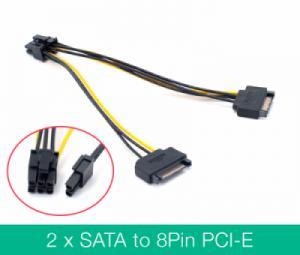 Cáp nguồn 8pin cho Card màn hình VGA (sata sang 8pin)
