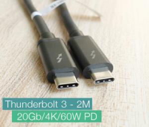 Cáp Thunderbolt 3 sang Thunderbolt 3 dài 2m 20GB, độ phân giải 4K
