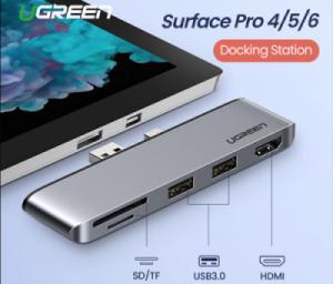 Hub USB 3.0 2 Port HDMI đọc thẻ nhớ SD TF cho Surface Pro 3-4-5-6