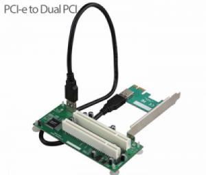 Card PCI-e sang 2 PCI thường chipset ASM1083